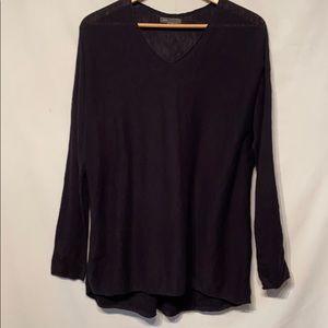 Vince 100% Cotton V-Neck BlackSweater Size Large